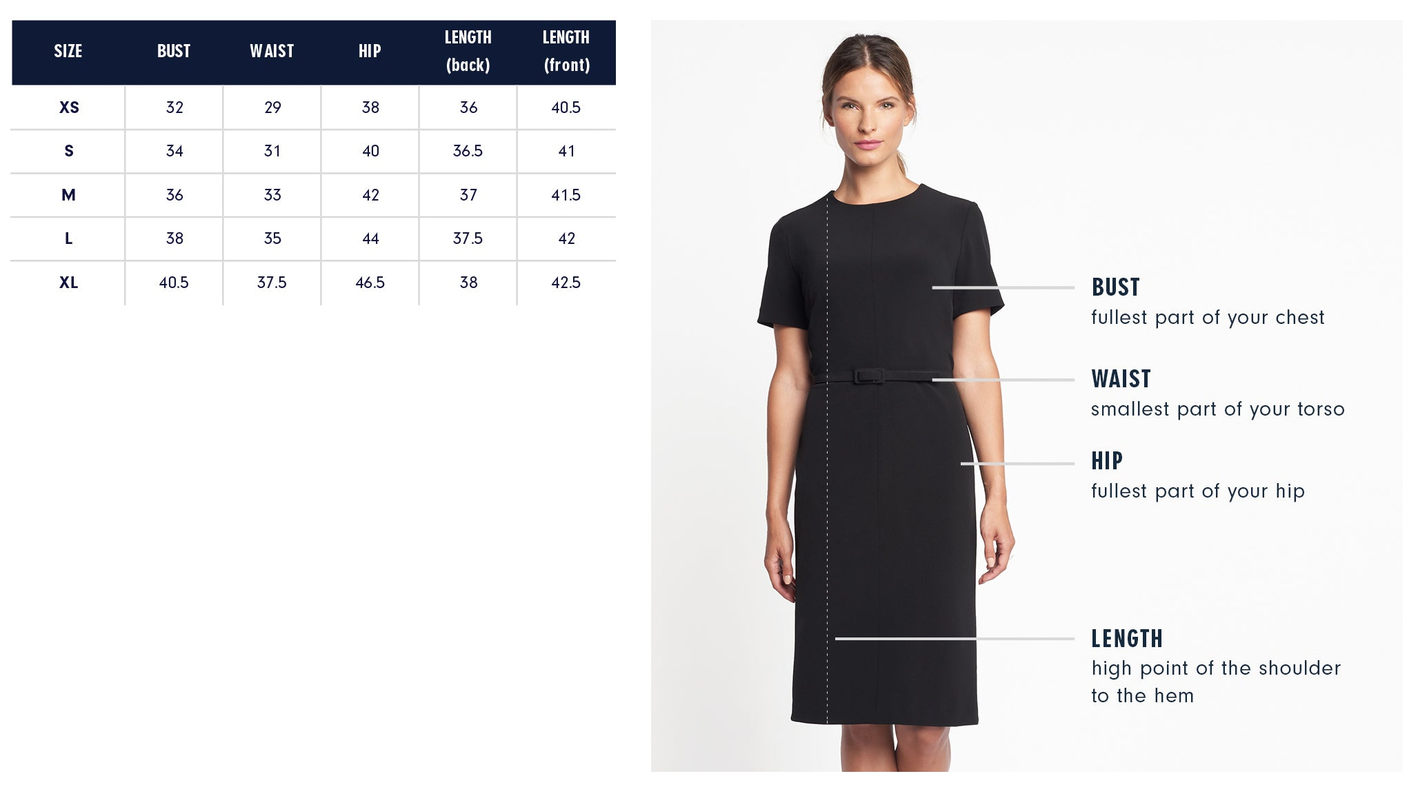 Barrow Dress Size Chart