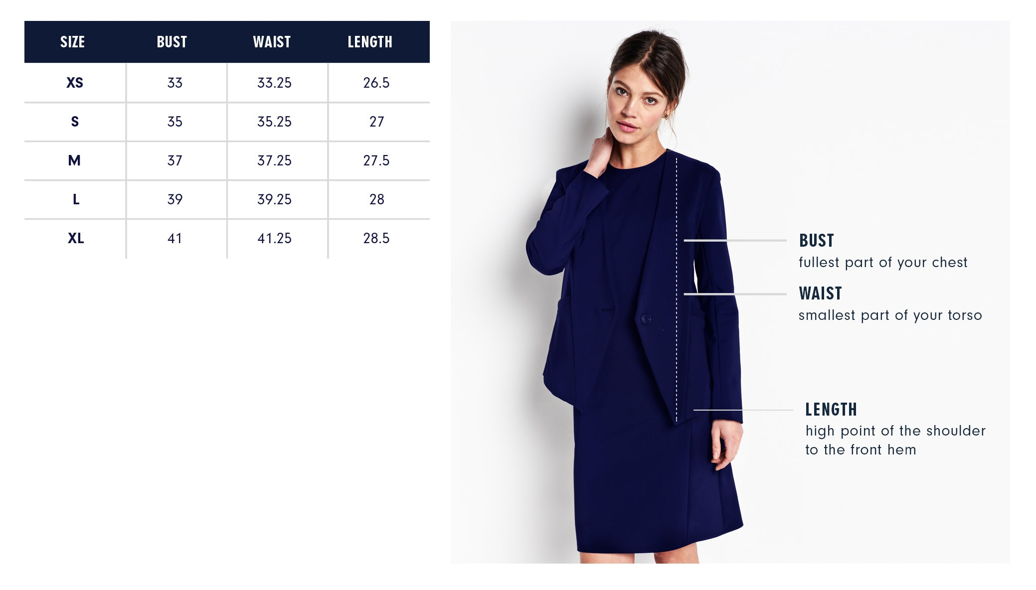 Of Mercer Lenox Blazer Size Guide