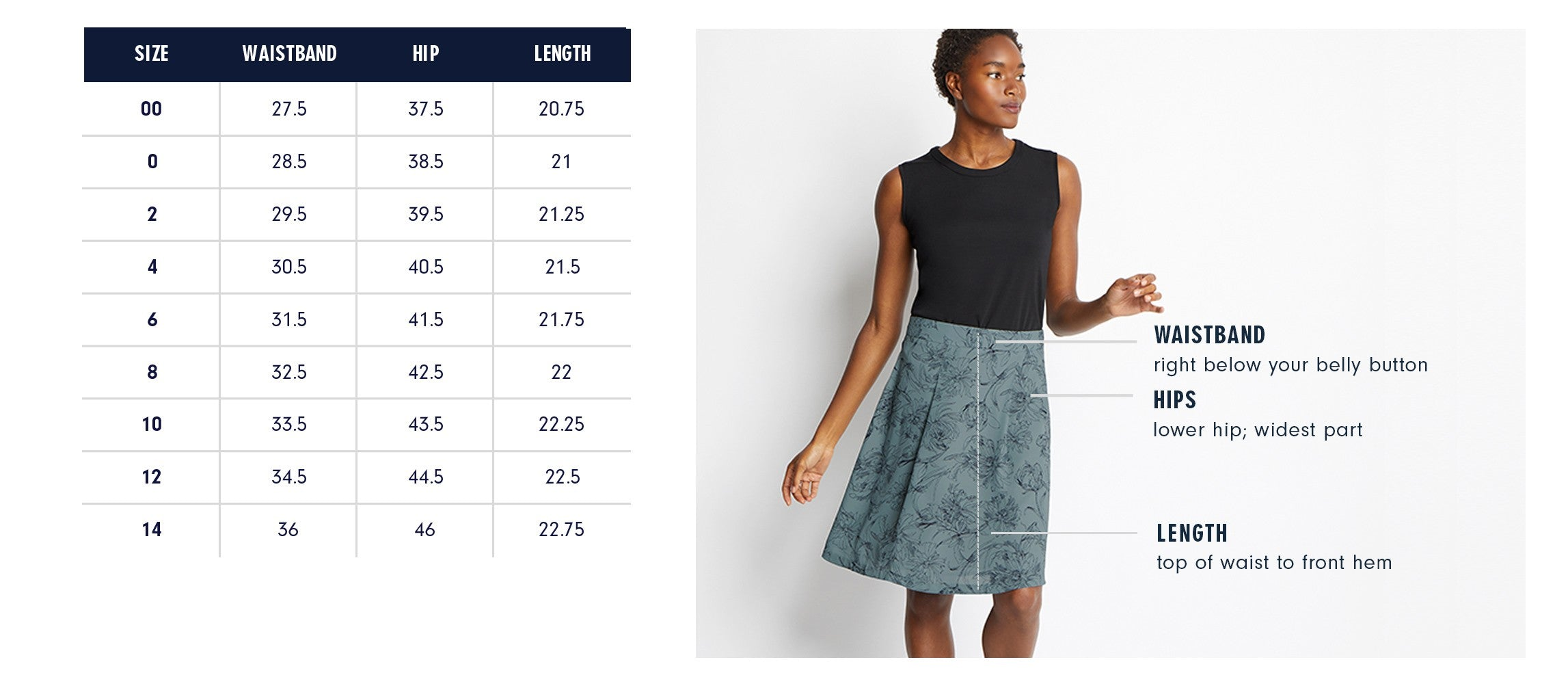 Of Mercer Murray Skirt Size Guide