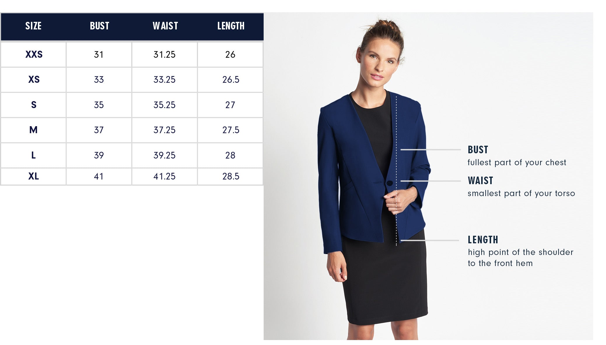 Of Mercer | Lenox Blazer | Size Guide