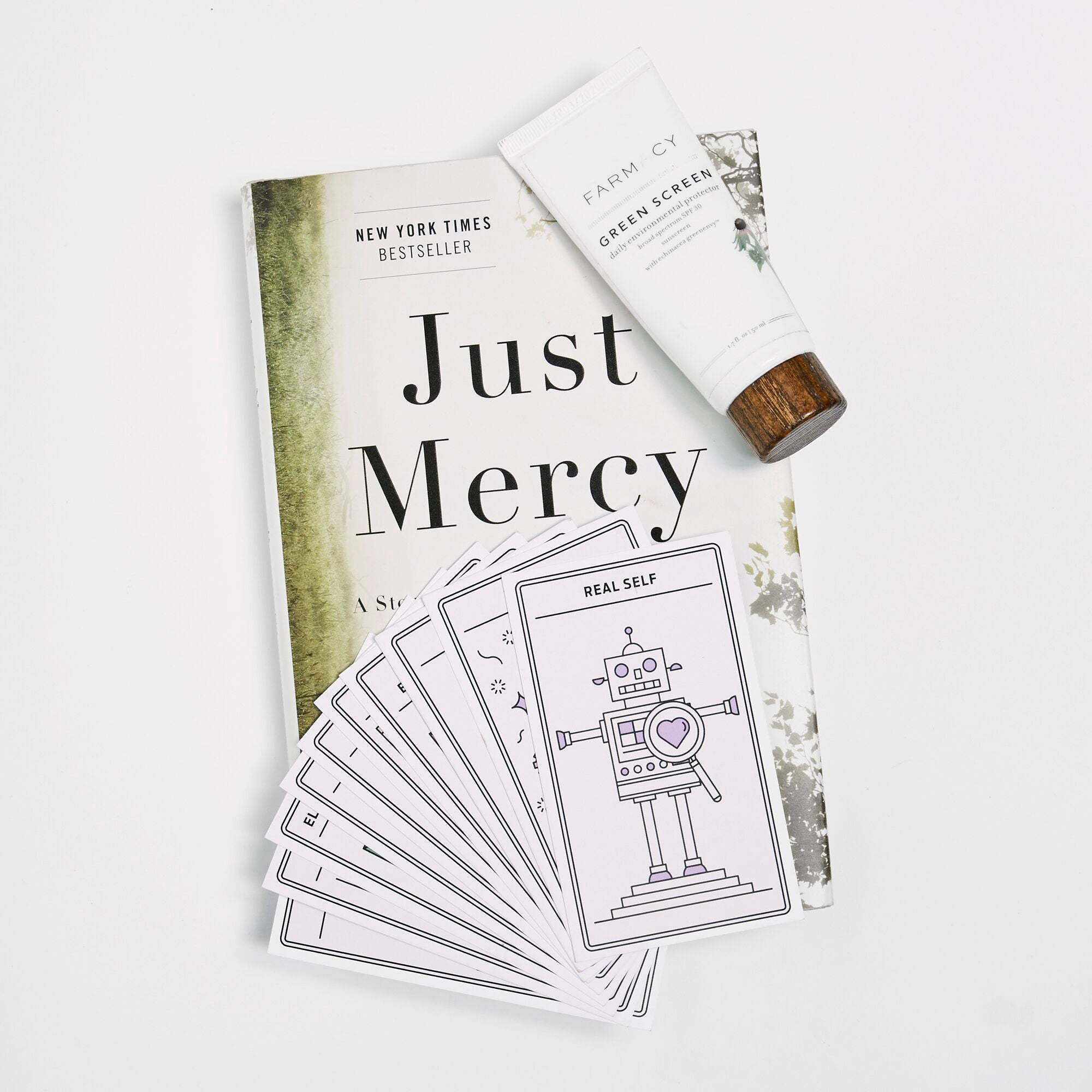 Just Mercy, Tarot Cards, Farmacy Green Screen SPF30