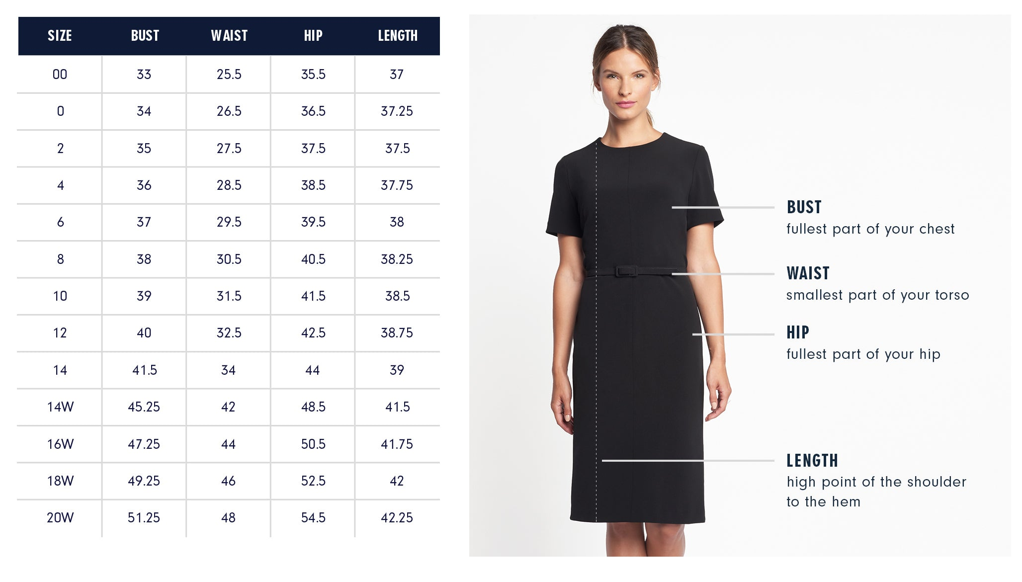 Of Mercer Fifth Avenue Dress Size Chart