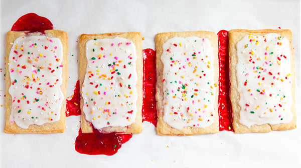 Homemade Pop Tarts from Cooking Classy. We love to use Sweet Lady Cook Jam or M Greenwood's Jam for these toasty treats.