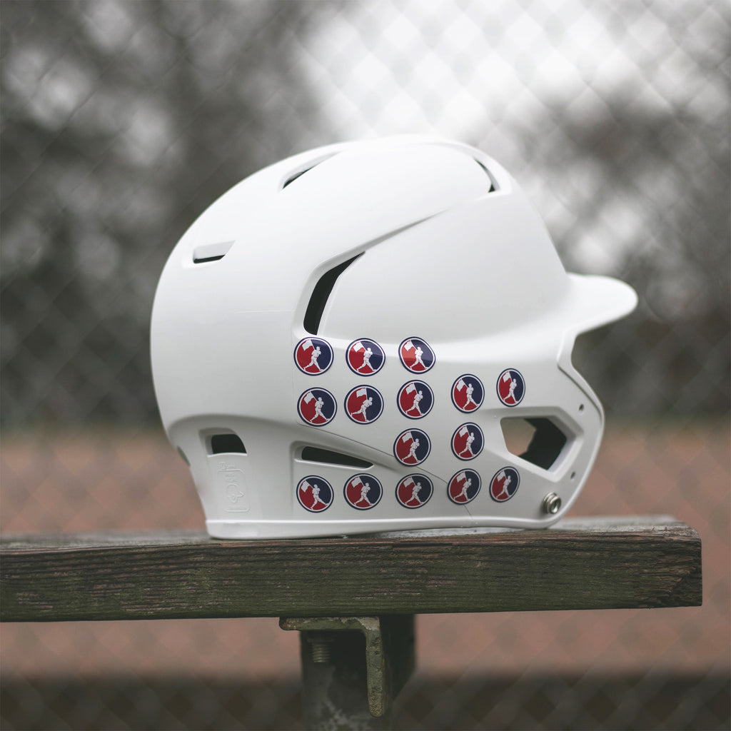 2019 flag man helmet stickers