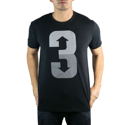 3 Up 3 Down (Black) - Men's Tee