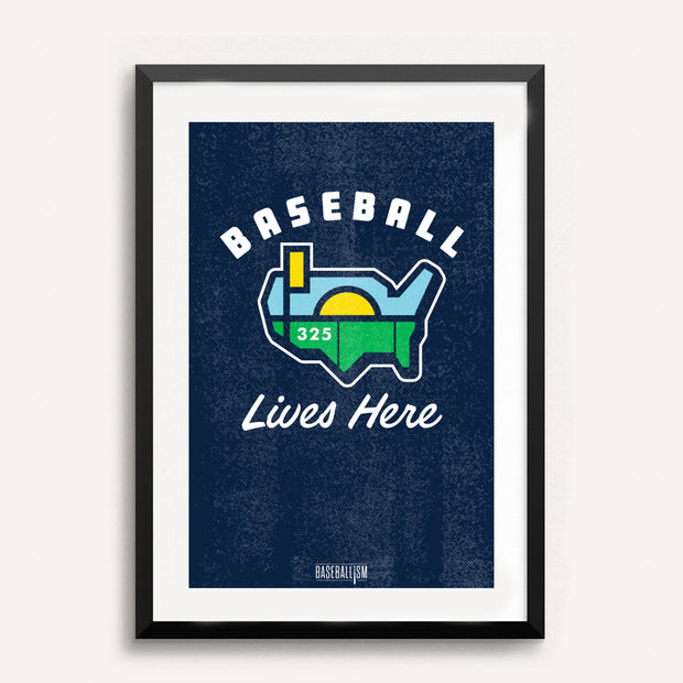 Baseball Lives Here 18x12