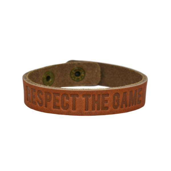 Respect the Game Single Loop Bracelet - Brown