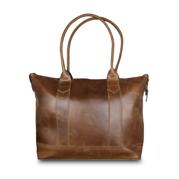 Cathy Zip Tote - Toffee
