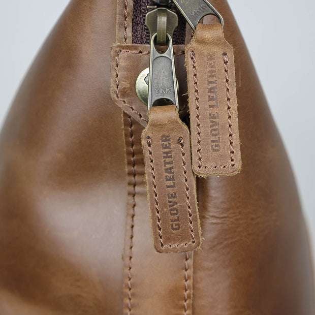 Cathy Mini Zip Tote - Toffee