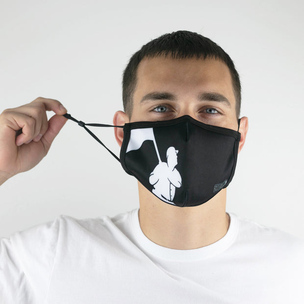 Flag Man (Black) Fashion Mask - Unisex