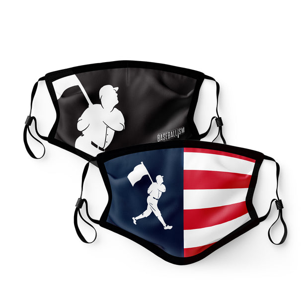 Flag Man Mask 2-Pack - Unisex