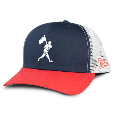 Flag Man Trucker - Navy and Red