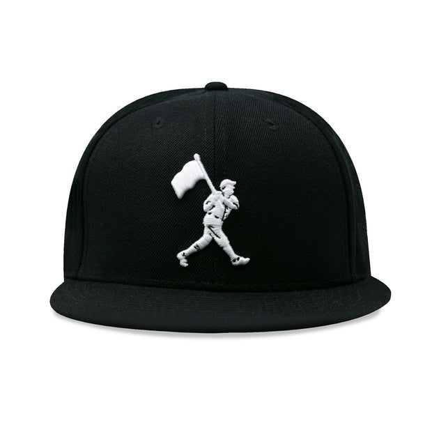 Flag Man Cap - Black and White