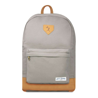Hayes Glove Leather and Canvas Backpack (Grey)