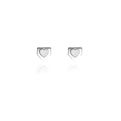 Home is Where the Heart is Earrings - Silver