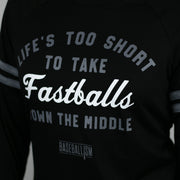 Life's Too Short - Long Sleeve Boyfriend Tee (Black)
