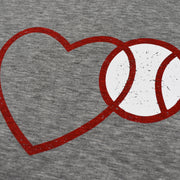 Love Baseball Grey - Women's Perfect Fit Tee