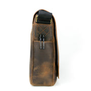 Mathewson Glove Leather Messenger Bag - Pine Tar Brown