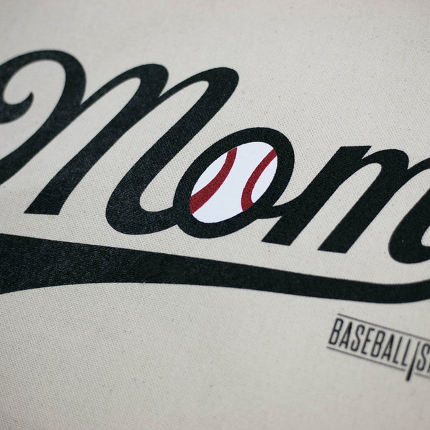 Baseball Mom Canvas Tote