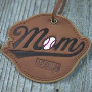 Baseball Mom Glove Leather Ornament