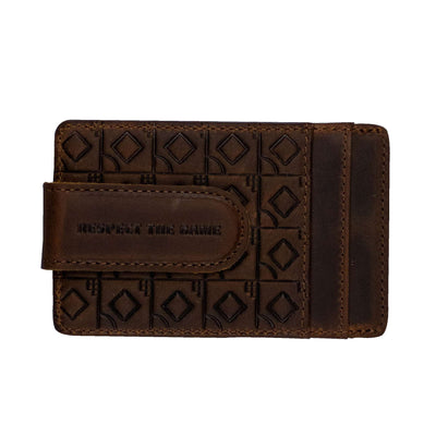 Flag Man Money Clip Wallet - Glove Leather