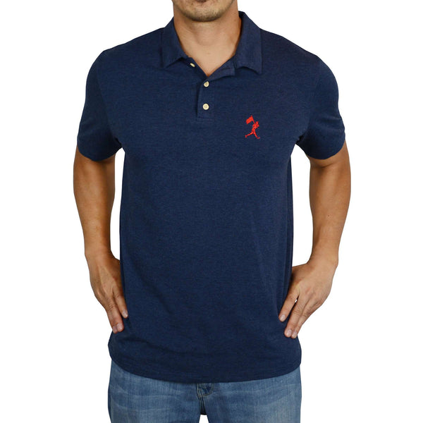 Flag Man Summer Polo - Navy