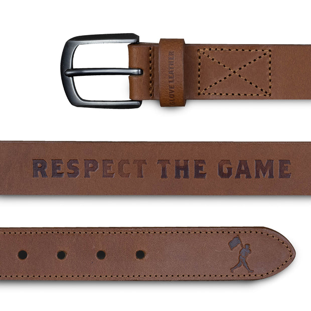 Respect the Game Glove Leather Belt - Light Brown