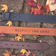 Respect the Game Glove Leather Belt - Black