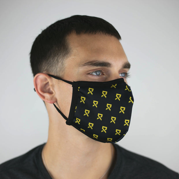 Rally Ribbon Gold Fashion Mask - Unisex