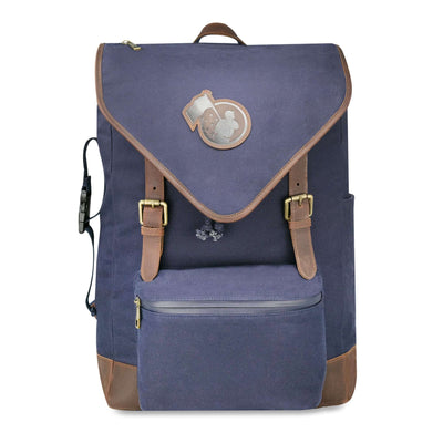 Rowengartner Backpack 2.0 - Glove Leather and Canvas - Navy