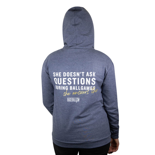She Answers Them Women's Hoodie
