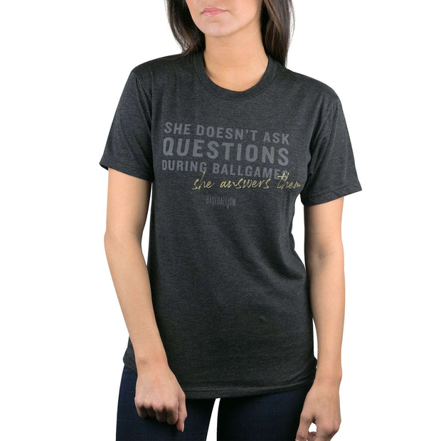 She Answers Them - Warm-up Tee