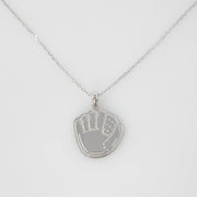 Glove Necklace - Silver