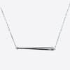 Baseball Bat Bar Necklace - Silver
