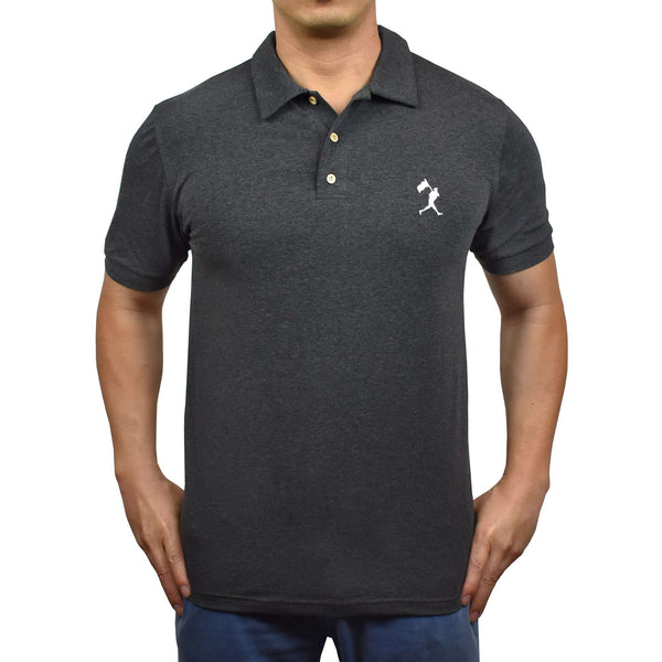 Flag Man Summer Polo - Charcoal