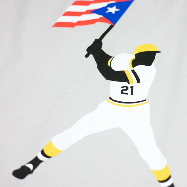 Clemente Swinging Flag