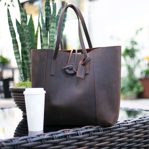 Vintage Glove Leather Tote