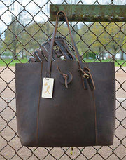 dark brown leather purse