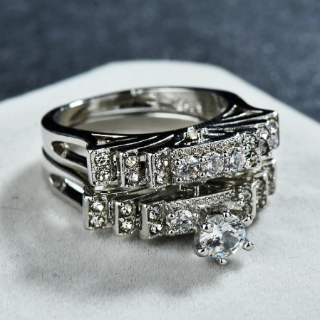 Multi Layered Zircon Ring (Elegantly Design)