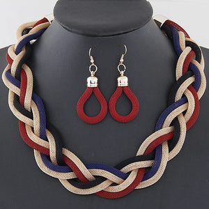 African Mysterious Charming Necklace Earrings Set
