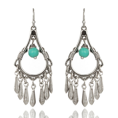 Big Silver Dangle Drop Earrings