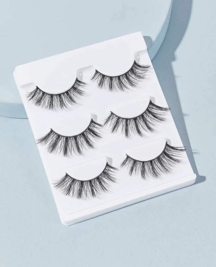 Lux Mink Eye Lashes - 3 Pair
