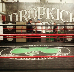 Dropkick Murphy's film video at Peter Welch's Gym in South Boston, MA
