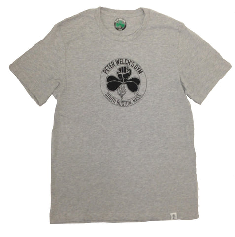 Peter Welch's Gym Black Logo on Gray