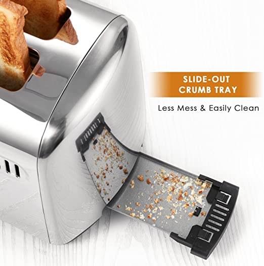 2 Slice Stainless Steel Toaster - OBM Distribution, Inc.
