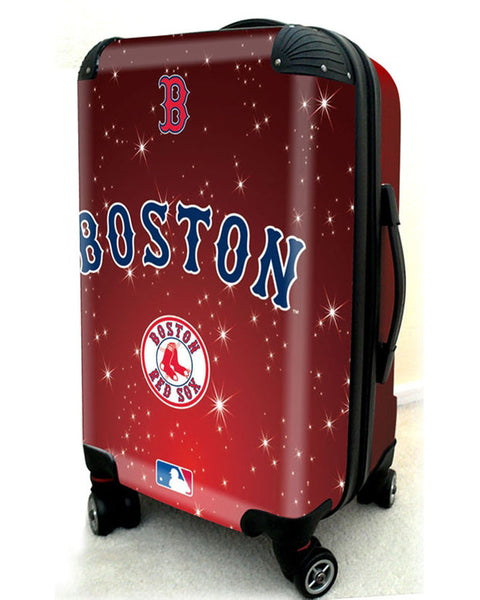 "Boston Red Sox, 21"" Clear Poly Carry-On Luggage by Kaybull #BOS10 - OBM Distribution, Inc."