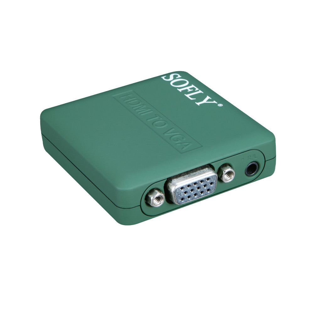 SOFLY HDCVGA02-M - Mini HDMI to VGA (plastic) - OBM Distribution, Inc.