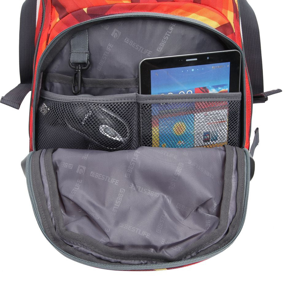 Bestlife Backpack BB-3148R-15.6'' (Orange and Yellow) - OBM Distribution, Inc.