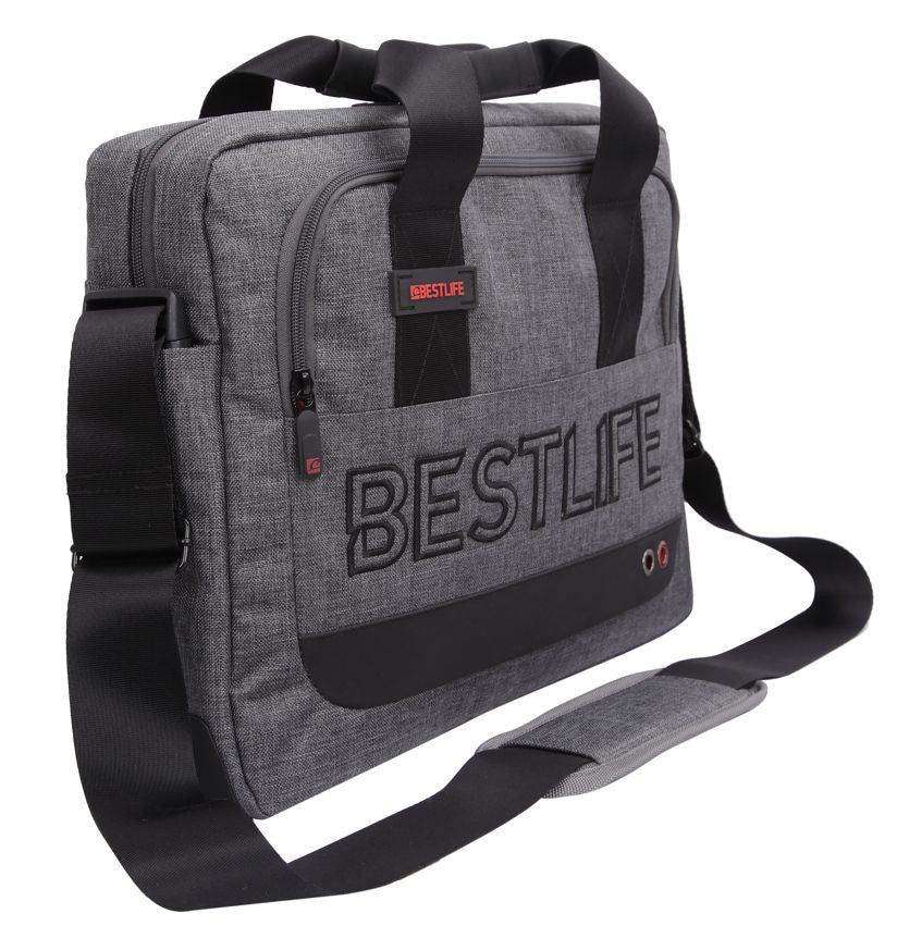Bestlife Briefcase BBC-3202G-15.6'' (Grey) - OBM Distribution, Inc.