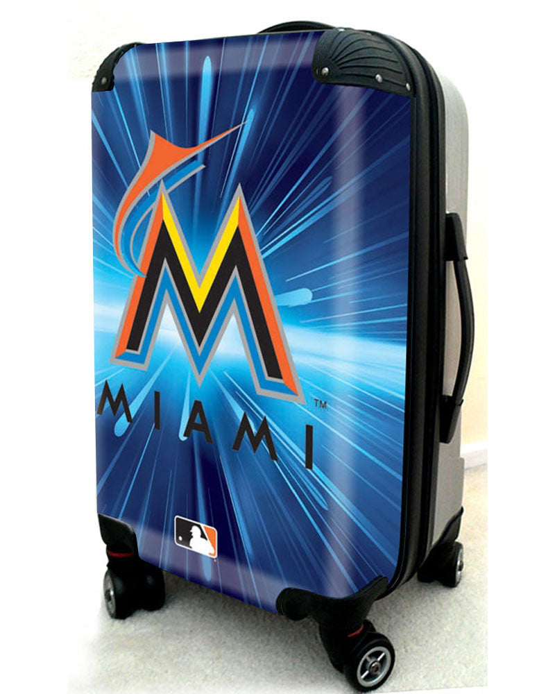 "Miami Marlins, 21"" Clear Poly Carry-On Luggage by Kaybull #MIA3 - OBM Distribution, Inc."